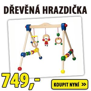 Dětská dřevěná hrazdička pro miminka